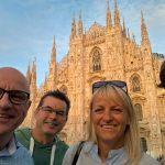 In Mailand wird Deutsch gesprochen: vlnr Posch, Laner, Fischer, Bückers