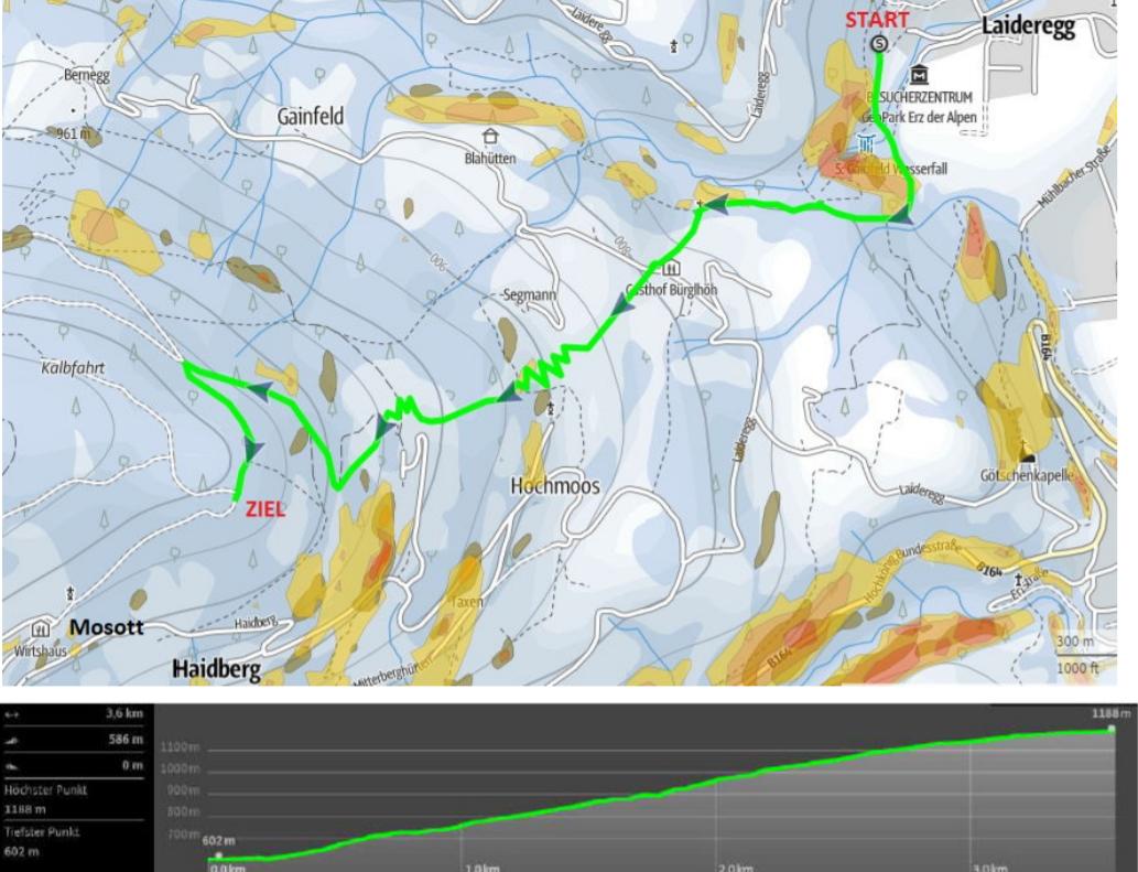 Strecke Erztrophy Vertical 2020