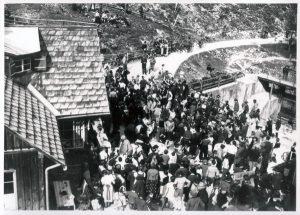 Großer Andrang beim Gletscherrennen im Jahr 1935 (Bild Leopold Gapp)
