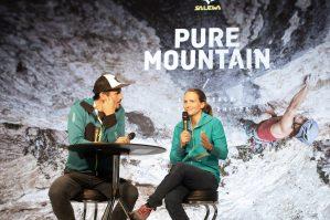 Alpinmesse Innsbruck 2019 Anna Stöhr im Gespräch auf der Vortragsbühne ©Simon Rainer fin