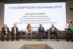 Alpinmesse Innsbruck 2019 Die Eröffnungsrunde der Alpinmesse 2019 ©Simon Rainer fin