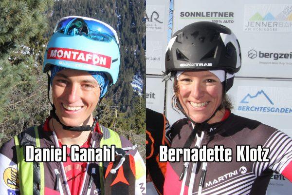 Daniel Ganahl und Bernadette Klotz Bilder Karl Posch SKIMO Austria