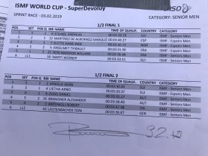 Halbfinale Sprint WC Superdevoluy